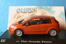 FIAT GRANDE PUNTO CUIVRE OLIEX 1/43 CARARAMA ORANGE NEU DIE CAST MODEL