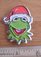 Kermit the Frog Christmas 1978 pin santa hat Vintage Muppets Jim Henson