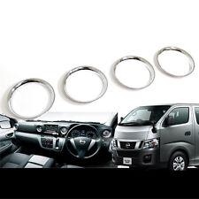 4pcs Chrome A/C Vent Garnish Ring  Cover Trim For Nissan CARAVAN NV350 E26