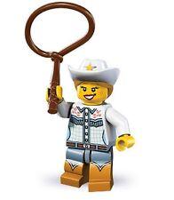 Lego minifig series 8 cowgirl cowboy lasoo wild west horse lot friends city