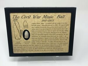 The Civil War Minie Ball Bullet Relic Case with Authentic Bullet, Case, & COA