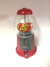Vintage Red Jelly Belly Bubble Gum Machine Cast Metal Glass Globe Pre-Owned.
