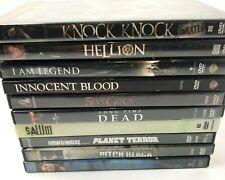 Lot of 10 Horror Movies Dvd Saw Planet Terror I Am Legend Pitch Black Hellion
