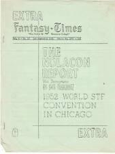 Fantasy Times #137 - 1951 fanzine - World Science Fiction Convention Report