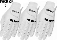 Brand New Leather Golf Glove New 3 Pack Synthetic Leather