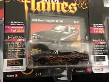 NEW 2018 Street Freaks Diecast Metal Black With Flames 1968 Chevy Chevelle 1:64