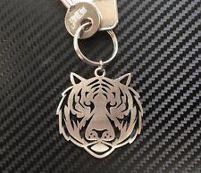 TIGER HEAD Cat Stripes Bengal Animal Zoo Wildlife Keyring Keychain Key Fob Gift