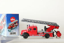 Feuerwehr Siku 4114 Magirus Drehleiter Rundhauber Guss in OVP (135629)