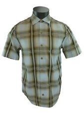 New Mens Tommy Bahama Brown Plaid Shirt Short Sleeve Market Street Small