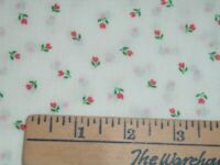 Vtg 80s Springs Tiny Red Tulip Flowers White Doll Clothes Quilt Sew 36x43 #390