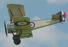 "Model Airplane Plans (RC): Sopwith Pup 1/6 Scale 53"" Biplane for .46-.60 Engine"