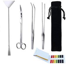 Jeeco 5 in 1 Aquascape Tools Aquarium Scissor Tweezers Spatula - Stainless Steel