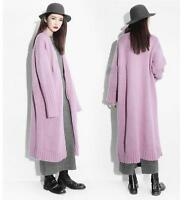 Women's Cashmere Blend Cardigan Thick Long Loose Sweater Coat Outwear New Hot