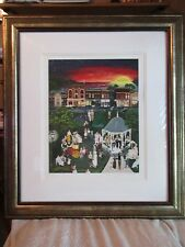 DENEILLE MOES SUNSET IN THE PARK Hand Signed Limited Editon Serigraph 110 of 150