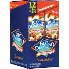 Box of Blue Diamond Almonds, Smokehouse,12 1.5 oz Bags Blue Diamond Almonds
