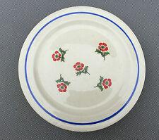 5 petites assiettes plates déco florale sans tampon french antique plate