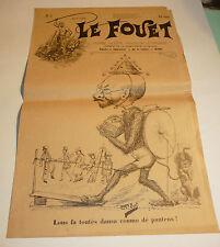 1896 n°3 ancien journal de Beziers le fouet caricature politique tres rare
