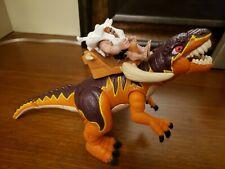 Fisher-Price Imaginext Dinosaurs Slasher the Allosaurus Figure Euc with caveman