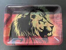 "Rolling Tray ""Rasta Lion Head"" 5"