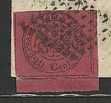 Stato Pontificio 1867 - 20 c. rosso brunastro - Sassone 18 - Firmato - Frammento