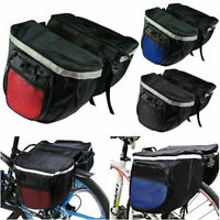 Waterproof Double Panniers Bag Bike Bicycle Cycling Rear Seat Trunk Rack Pack x1
