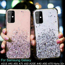 Sparkling Shockproof TPU Soft Phone Case For Samsung Galaxy A21s A51 A71 Note10+