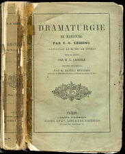 Gotthold Ephraim Lessing : DRAMATURGIE DE HAMBOURG - Théatre