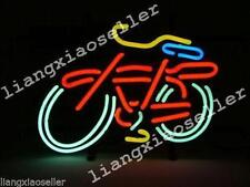 New FAT TIRE Fattire BIKE BICYCLE LOGO REAL GLASS NEON SIGN BEER BAR PUB LIGHT
