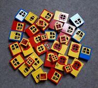 10 Lego Fabuland Fenster Türen Teile Haus City System