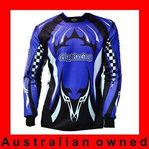 4BP Racing BMX/ MX junior Kids riding GEAR Jersey ONLY Motocross -BLUE