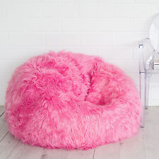 FUR BEANBAG Cover Top of the Range Pink Super Luxe Chair Lush and Soft Bean Bag