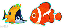 """2"""" inch Disney finding nemo fish set peel & stick wall border cut out character"""