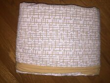 """West Elm Duvet Cover Full / Queen 81"""" x 92"""" and 1 pillow case Gold and Off-White"""