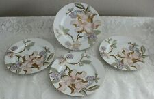 4 Fitz & Floyd Fine Porcelain Fantaisie Floral 7.5 Accent Salad Plate Japan