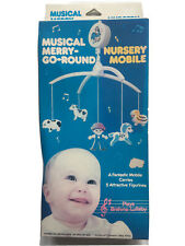 Musical merry go round nursery mobile 5 Farm Attractive Figurines Plays Brahms