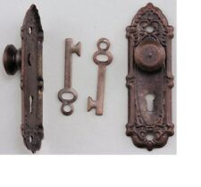 Dollhouse Miniatures 1:12 Scale Opryland Door Handle Set with Key #CLA05577