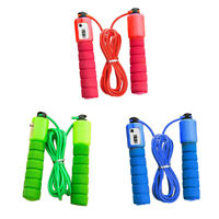 Adult Kid Exercise Fitness Adjustable Counting Jump Skipping Rope With Counter
