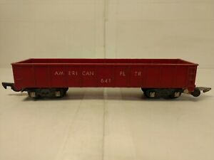 Vintage American Flyer #641 Rouge Wagon Train Voiture S Jauge tr1163