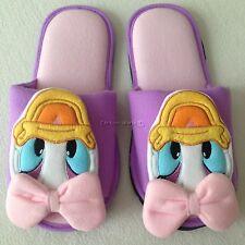Disney Daisy Duck Soft Plush Slippers Shoes Sandal Size UK4-8,US 6-10,EU 36-42