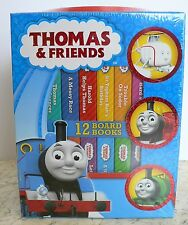 NEW Thomas & Friends BOOK BLOCK 12 Board Books CARRYING CASE Box Set 2015