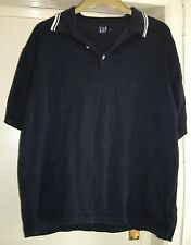 Mens GAP blue knitted short sleeve top size XL