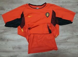 Belgium Soccer Jersey Shirt 100% Authentic Player Issue 2002 World Cup Home S