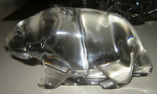 Vintage Tiffany & Co. crystal grizzly bear figurine or large paperweight