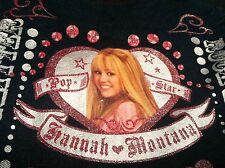 "Disney HANNAH MONTANA Washed Denim Tote Shoulder Bag 10"" x 10"" NEW Miley Cyrus"