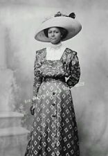 Vintage Old Photo Print Pretty Edwardian era African American Black Woman Lady