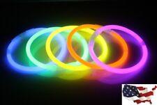 Lot 40PC Light Up Plastic Sticks LED Wands Rally Rave Batons Flashing Glow Stick