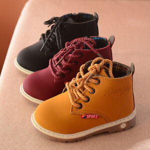 Fashion Kids Boy Girls Martin Boots Children Toddler Ankle Boots Shoes Size 5-11