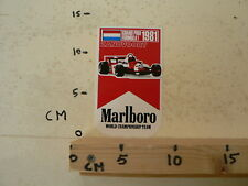 STICKER,DECAL MARLBORO 1981 GRAND PRIX FORMULA 1 ZANDVOORT B