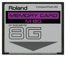 8GB Roland CF Card for FANTOM X6 X7 X8 XR Xa V-Synth Juno-G Memory Upgrade
