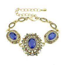 Bracelet Antique Copper Style Blue Rhinestone Beautiful New Ladies jewellery